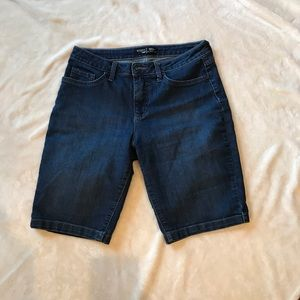 Blue jean Bermuda shorts